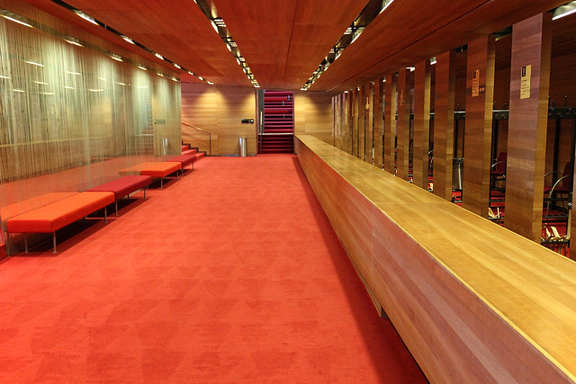 Inside the Palace of Arts - cloackroom perspective