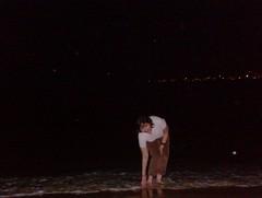 At Sentosa beach my first holiday 'alone' (India)