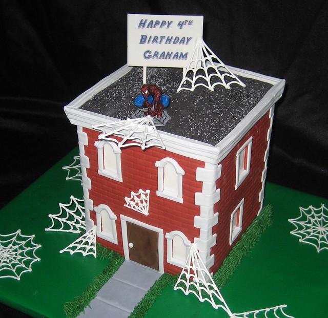 Spiderman on brick building