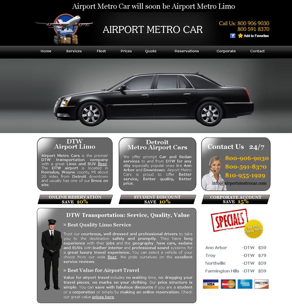 Metro Cars Detroit >> Detroit Dtw Airport Metro Cars Limo Car Transportation Ser