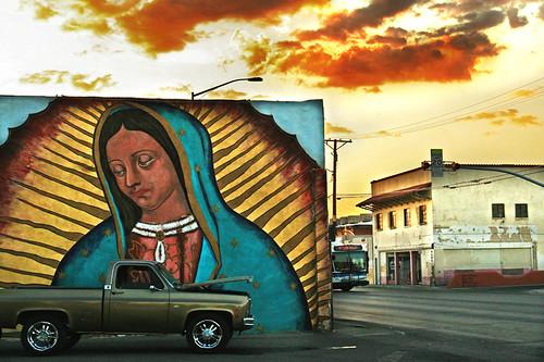 road city sunset sky streets west bus clouds digital truck canon buildings painting fire eos rebel artwork mural skies texas desert sidewalk elpaso vehicle walls brokendown xti