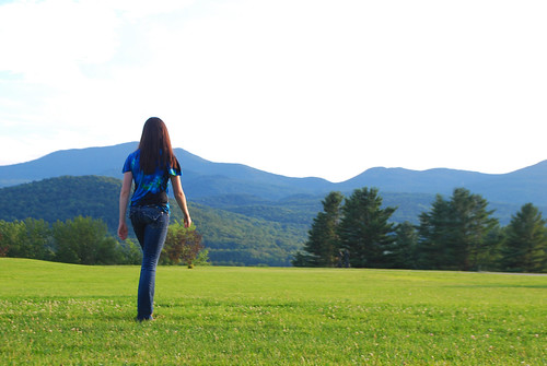sunset mountains green field gold vermont dancer burklyn