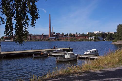 sea summer pier boat factory shore meri vaasa vene ranta laituri tehdas
