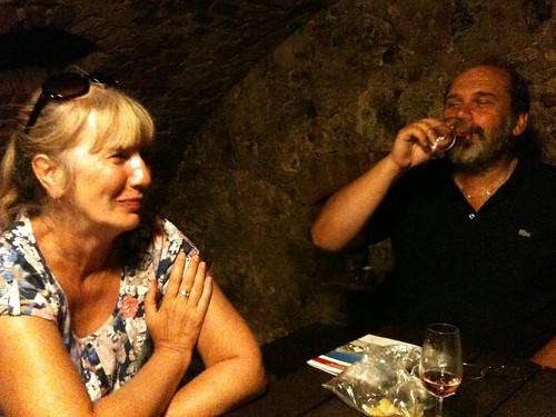 Lilka and Jarek wine tasting