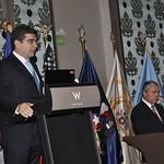 Fri, 07/22/2011 - 08:55 - Izquierda:  Luis Bitencourt, Decano Académico, Centro de Estudios Hemisféricos de Defensa (CHDS) Derecha: Oscar Izurieta Ferrer, Subsecretario de la Defensa Nacional de Chile