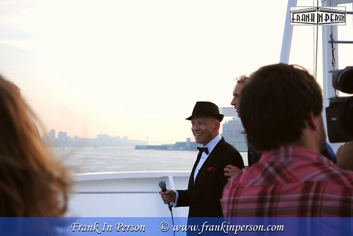 Soundcheck Frank In Person before performing NY, NY (at 06:00 AM) on board on the MS Rotterdam, when arriving in NY | by Frank In Person