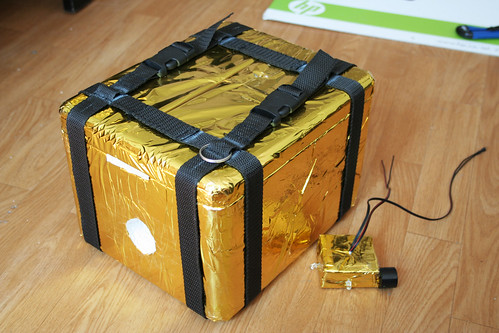 czANSO payload box with protection gold foil | by Pavel Richter