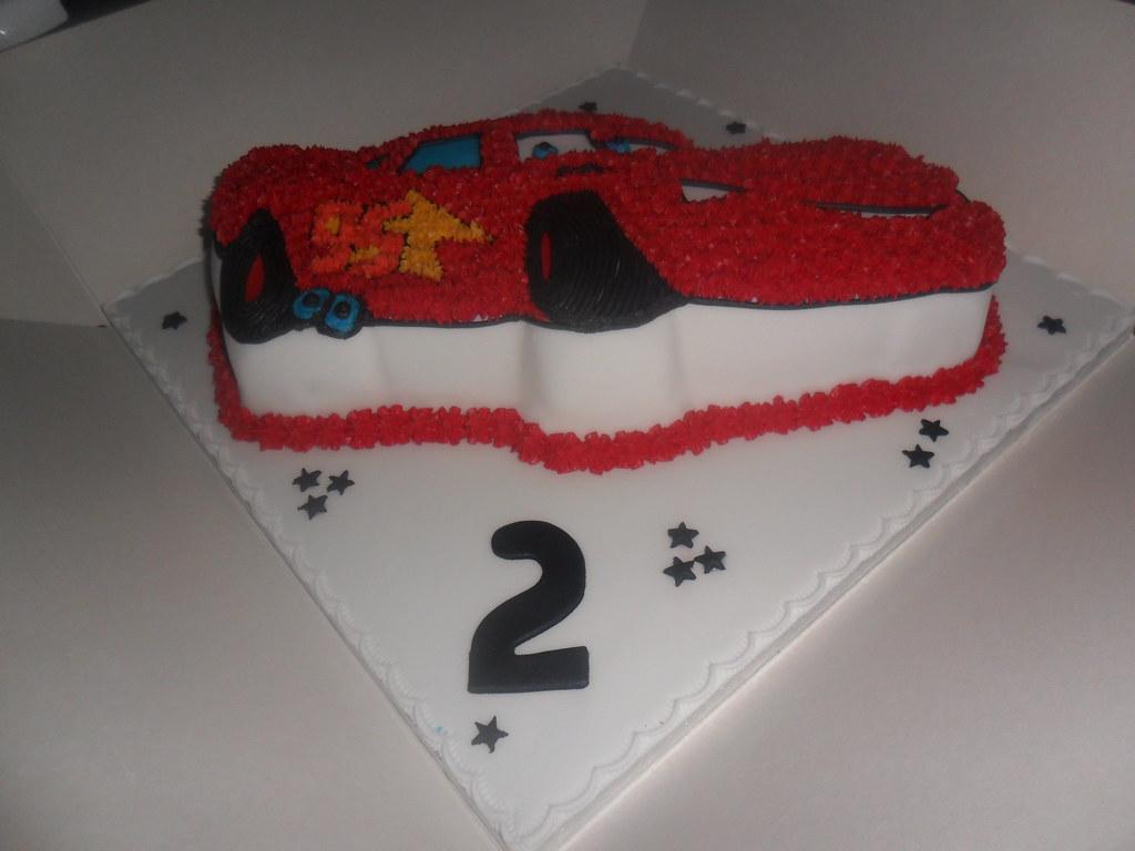 Brilliant Disney Cars Birthday Cake Elizabeth Flickr Personalised Birthday Cards Veneteletsinfo