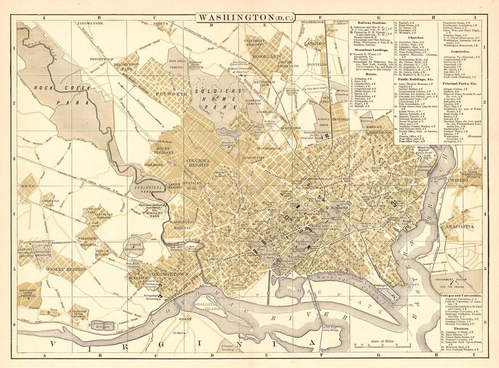 Washington, DC Street Map, 1895   tdalemapco   Flickr on