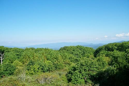 mountains tower great bald lookout smoky appalachian nantahala wayah
