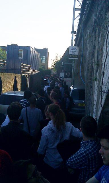 The widening queue