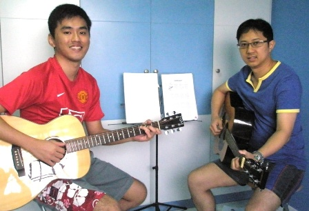 1 to 1 guitar lessons Singapore Andy