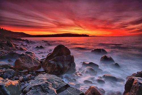 longexposure me canon dawn rocks surf maine ne hdr surise acadianationalpark waterfallguy