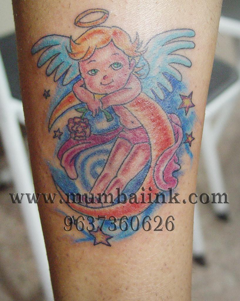 Baby Angel Tattoo Hanz Falcao Flickr