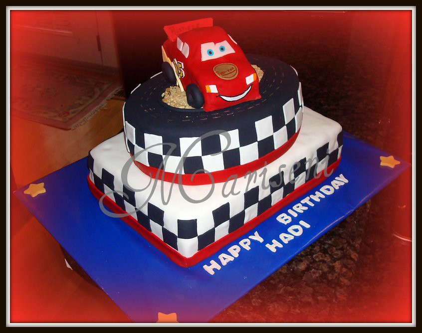 Super Lightning Mcqueen Birthday Cake Join Us On Facebook Flickr Personalised Birthday Cards Paralily Jamesorg