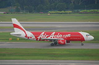 Indonesia AirAsia Airbus A320-216; PK-AXC@SIN;07.08.2011/617eo | by Aero Icarus