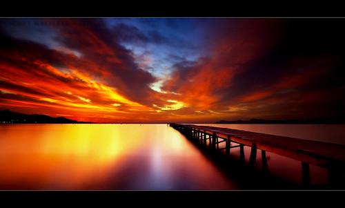 light vacation holiday sunrise scott islands bay pier early spain long exposure pentax jetty espana coastal getty mallorca islas majorca platja fascinating baleares masterton rm alcudia balearic sigma1020mm k100d