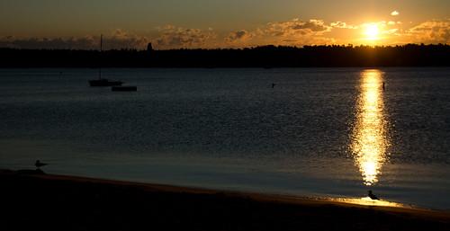 lake sunrise nikon michigan beaverisland d5100