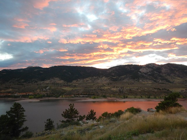Sunset at Horsetooth Reservoir, CO
