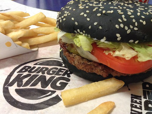 Burger King Halloween Whopper, Black Buns, A-1 Sauce, 9/2015, by Mike Mozart of TheToyChannel and JeepersMedia on YouTube #Burger #King #Whopper Hallowee#Halloween #Black #Buns #2015