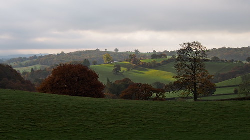 autumn color colour wales landscape view cymru powys