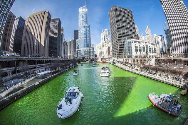 The Greening of the Chicago River - 2017 Edition