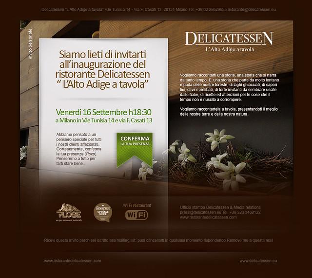 Ristorante delicatessen - Newsletter