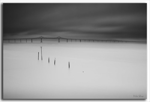 ocean california longexposure bridge sea bw lighthouse history beach water skyline clouds sunrise canon richmond historic bayarea sanrafael californiacoast ndfilter 2470mmf28l eastbrotherlighthouse 10stopndfilter mshaw silverefexpro 5dmark2 canoneos5dmarkll bigstopper
