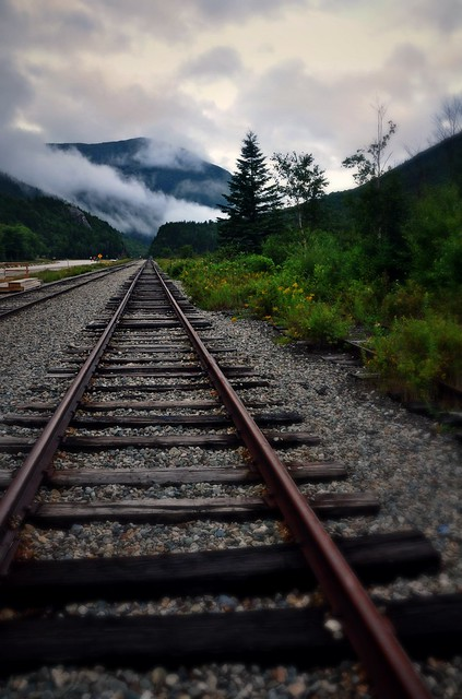 Train Into the Clouds