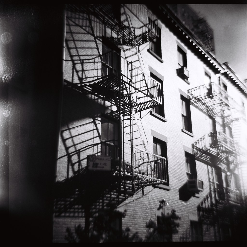 Lomography 120mm film black and white nyc new york city new york city buildings 1800s old