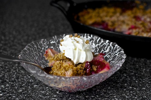 pear cranberry and gingersnap crumble + yogurt | by smitten kitchen