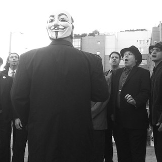 #anonymous conducting @COBeards in songs of Leonard Cohen #occupysf #ows