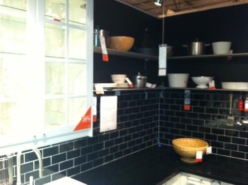 Ikea Kitchen Vignette With Black Subway Tile Backsplash   Flickr
