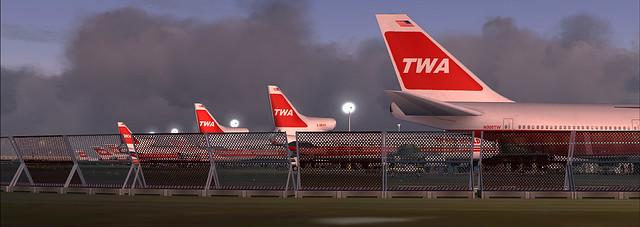 TWA JFK hub circa 1981