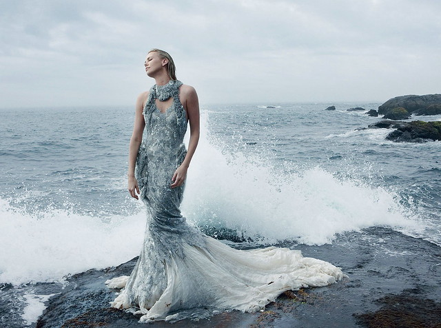 """Charlize Theron in Alexander McQueen: """" Breaking Away"""" by Annie Leibovitz for US Vogue December 2012"""