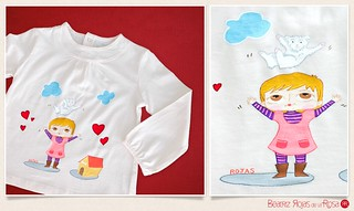 Camiseta Júlia & Perrito  // Júlia & Dog T-shirt | by Beatriz Rojas de la Rosa [illustration]