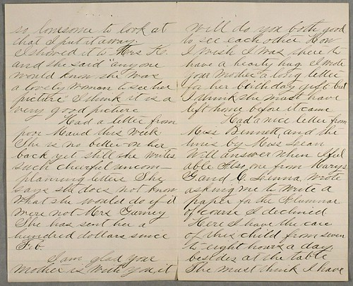 Fragment of letter from Anne Sullivan to unknown recipient ...