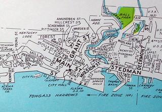 Ketchikan AK 1950s | Map by Geographia Maps. | davecito | Flickr on sitka alaska, outline map of alaska, juneau alaska, map of homer alaska, large print map of alaska, map of wasilla alaska, map of southeast alaska, map of naknek alaska, juno alaska, ketchican alaska, skagway alaska, map of seward alaska, map of alaska inside passage, map of kotzebue alaska, map of craig alaska, map of alaska and canada, map of vancouver bc, road map of alaska, map of denali alaska, map of hoonah alaska,