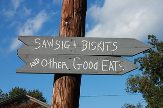 Sausage and Biscuits sign in  Loachapoka Alabama | by muffinn