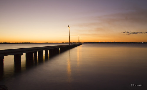 sunset water yellow river pier pelican perth sigma1770 canon7d dorcam16
