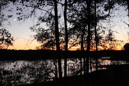 sunset lake landscape texas tx