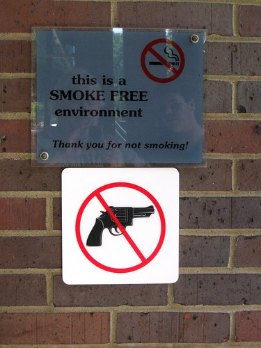 smoke free / gun free | by Richard Elzey