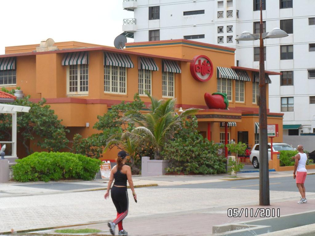 Puerto Rico Chilis Restaurant At Condado Peninsula Santu