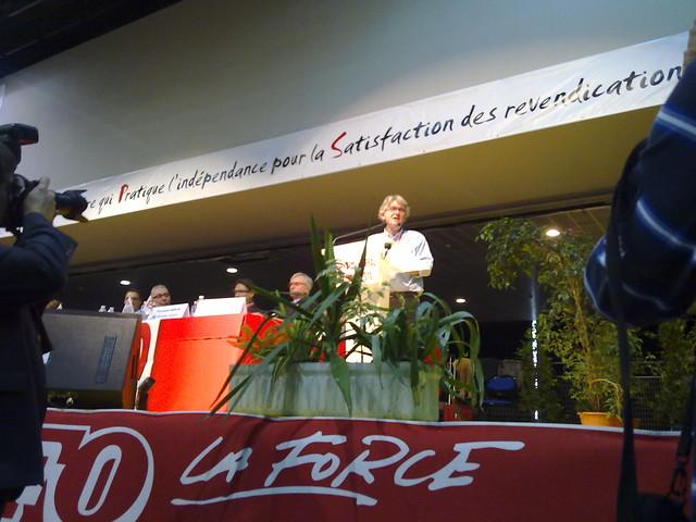 jean claude mailly au congrès de Dunkerque