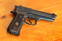 Next: Beretta Walnut Grips on Beretta 92FS