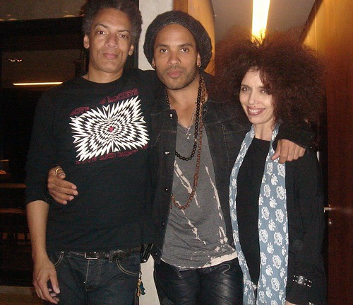 Lonnie Hillyer, Lenny Kravitz, Andrea Alvarez | by Lonnie Hillyer