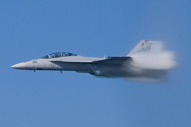 Fleet Week 2011: F/A-18 with shock collar during high-speed pass