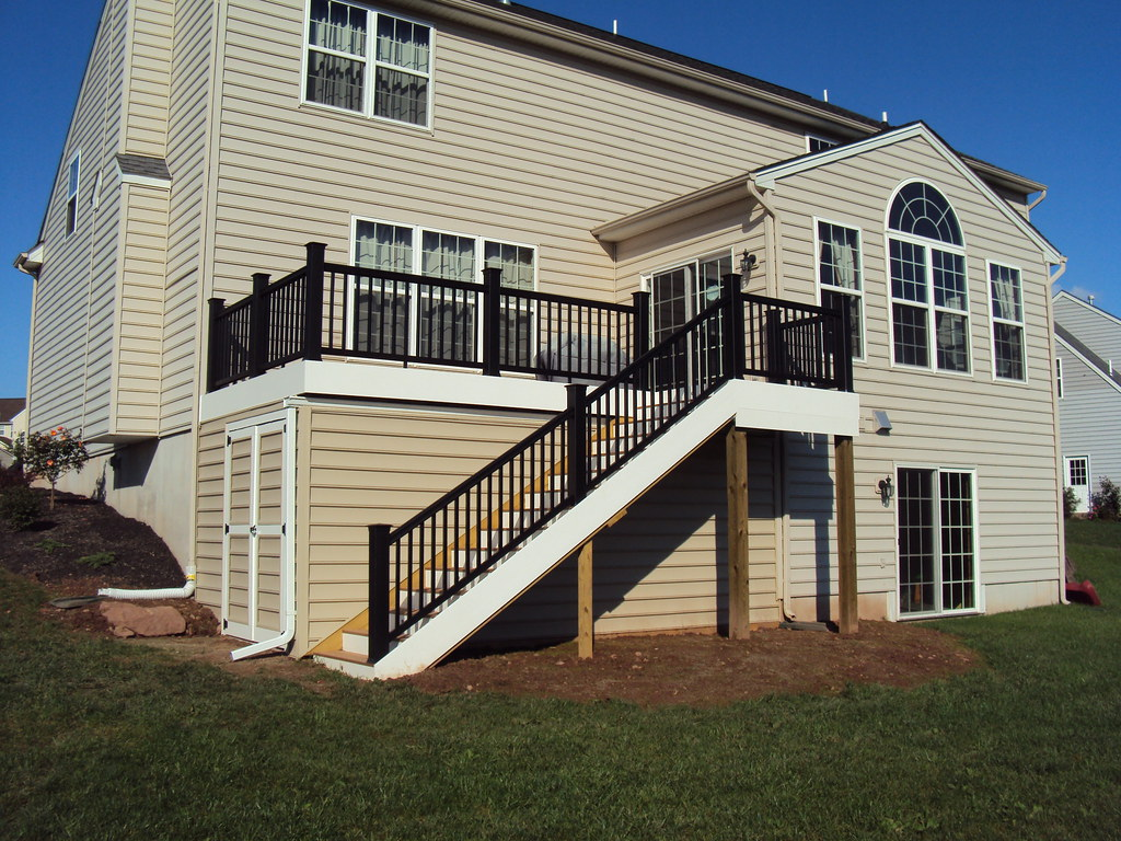Timbertech Deck With Built In Storage Shed For About The
