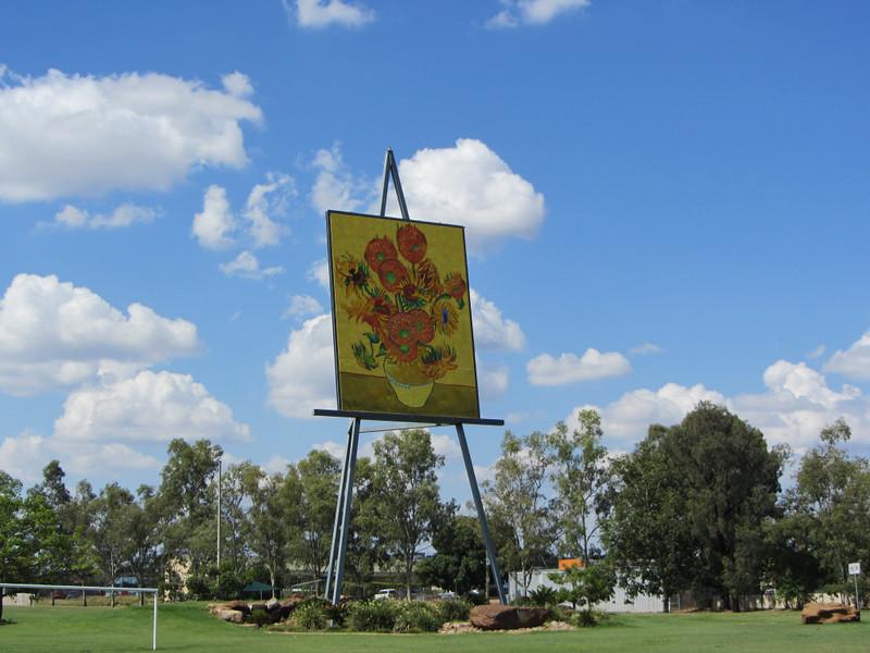 Giant Van Gogh Sunflowers, Emerald, Queensland