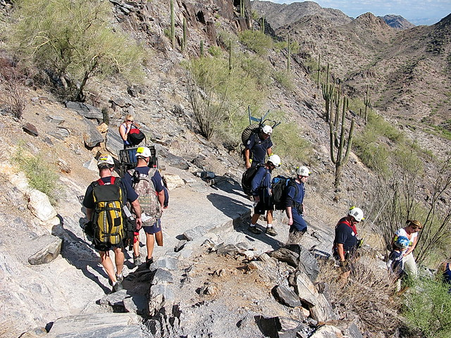 Successful rescue - Phoenix Fire Department Mountain Rescue - Piestewa Peak